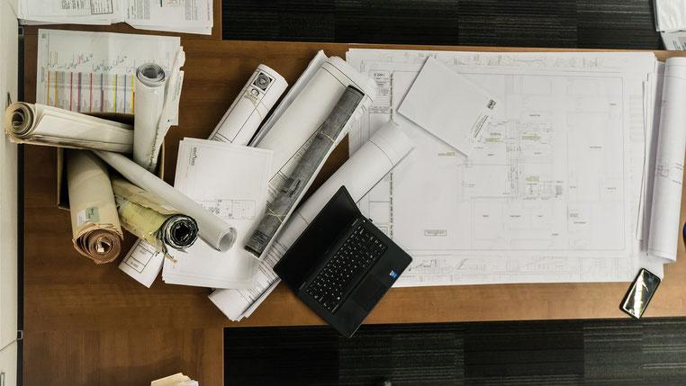 Bauzeichnungen - Foto Pixabay