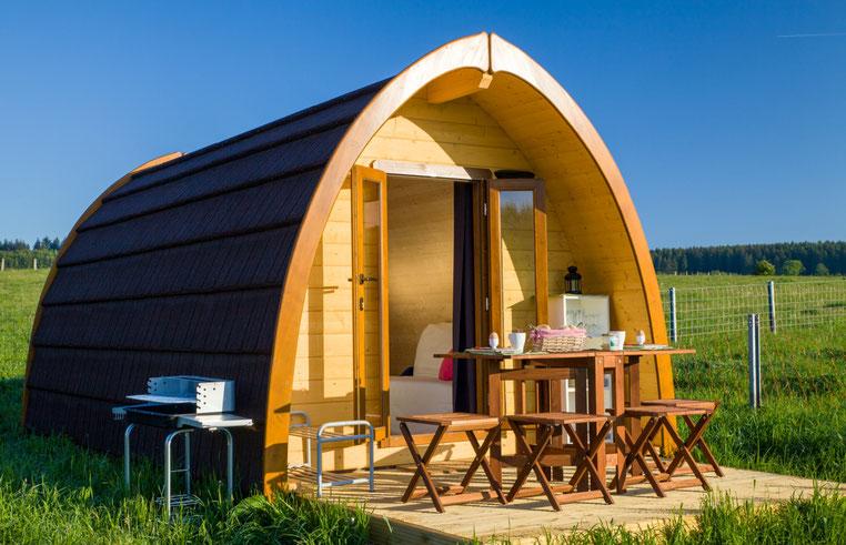 mobil-home en bois design moderne