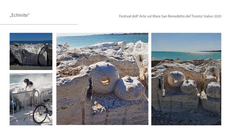 #Echinite #Italien #festivaldellartesulmare #sanbenedettodeltoronto #travertin #mare #publicsculpture #kunstimöffentlichenraum #katharinamörth #katharinamoerth #musedelmare #contemporary #stein #stone #steinskulptur #stonesculpture #2020