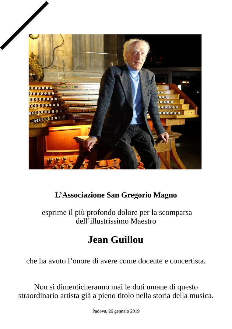 Necrologio M°Jean Guillou