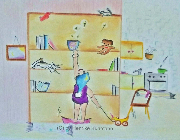 bunte Kinderbuch-Illustration
