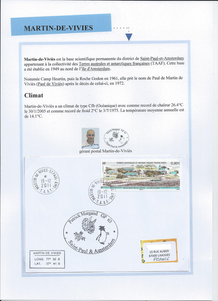 Gérant postal de Martin-de-Viviès