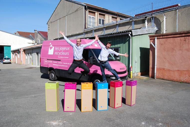 Fabien et Gilles, les co-fondateurs des Joyeux Recycleurs