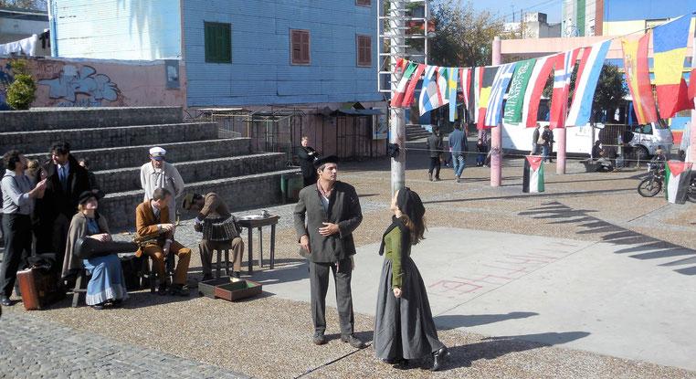 Die Geschichte von La Boca als Schauspiel