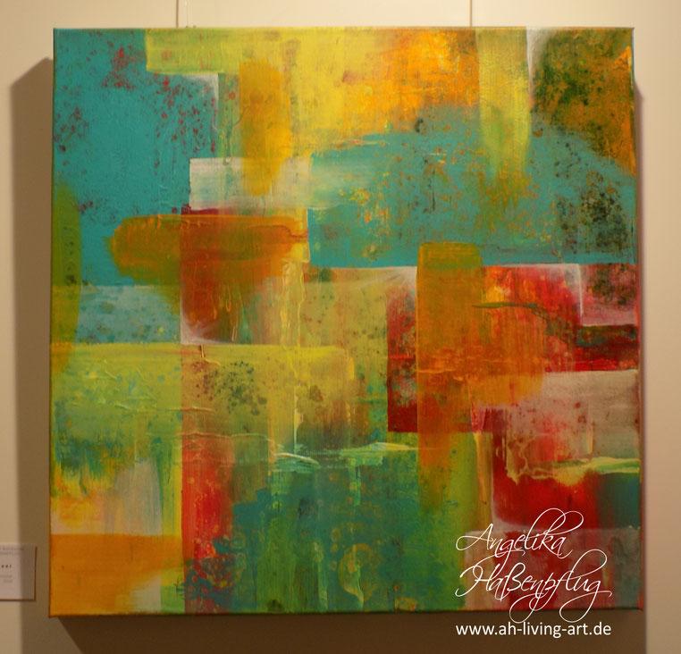 Abstraktes Bild , bunte, , Acryl, moderne kunst, angelika haßenpflug, living art.
