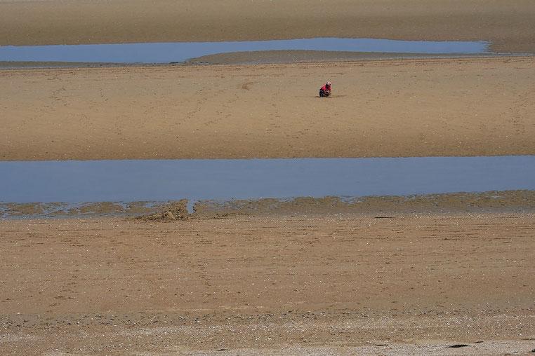 Mathieu Guillochon, photographe, rivages, couleurs, mer, Calvados, Cabourg, Normandie, laisses