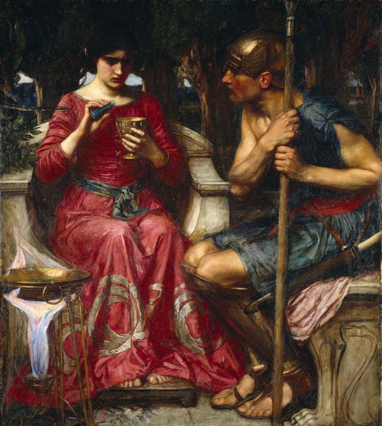 "J.W. Waterhouse, ""Giasone e Medea"" (1907)"