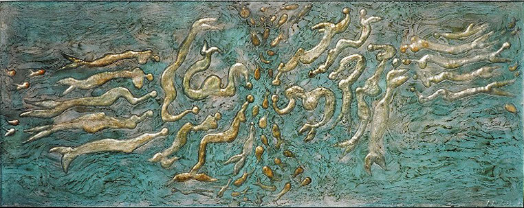 Sirènes - n°II (dimensions 80 x 31,5)