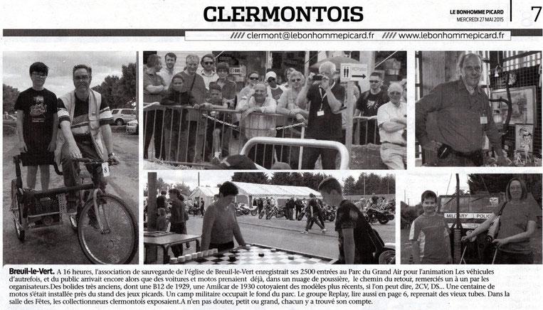 """27 mai 2015 - Le Bonhomme Picard - Breuil le Vert - """"un dimanche comme Autrefois"""""""