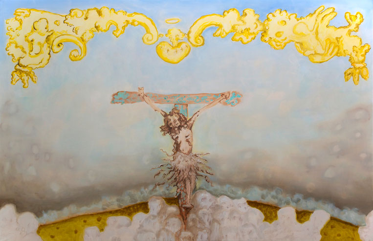 Christian Jaramillo, INRI, 2015, 195cm x 300cm, oil on canvas