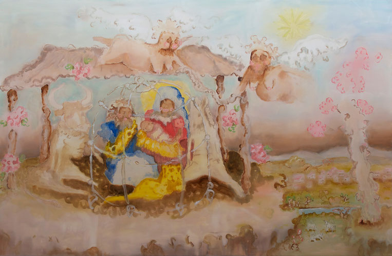 Christian Jaramillo, It's a boy, 2015, 195cm x 300cm, oil on canvas