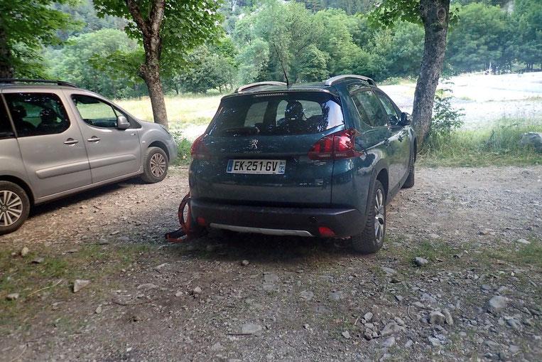 Parking de Panticosa Les Bains.