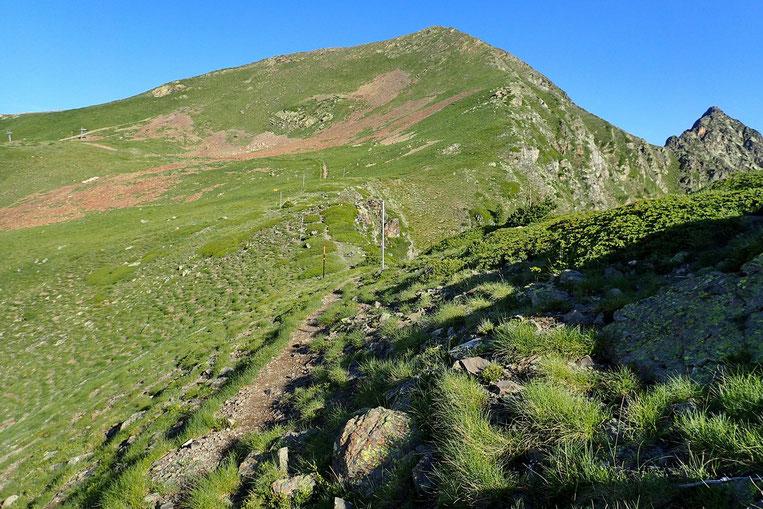 Descente du Montarrouyet avec passage par le Col de Jétas.