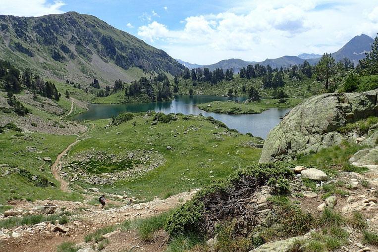 Les lacs du Milieu (de Bastan).