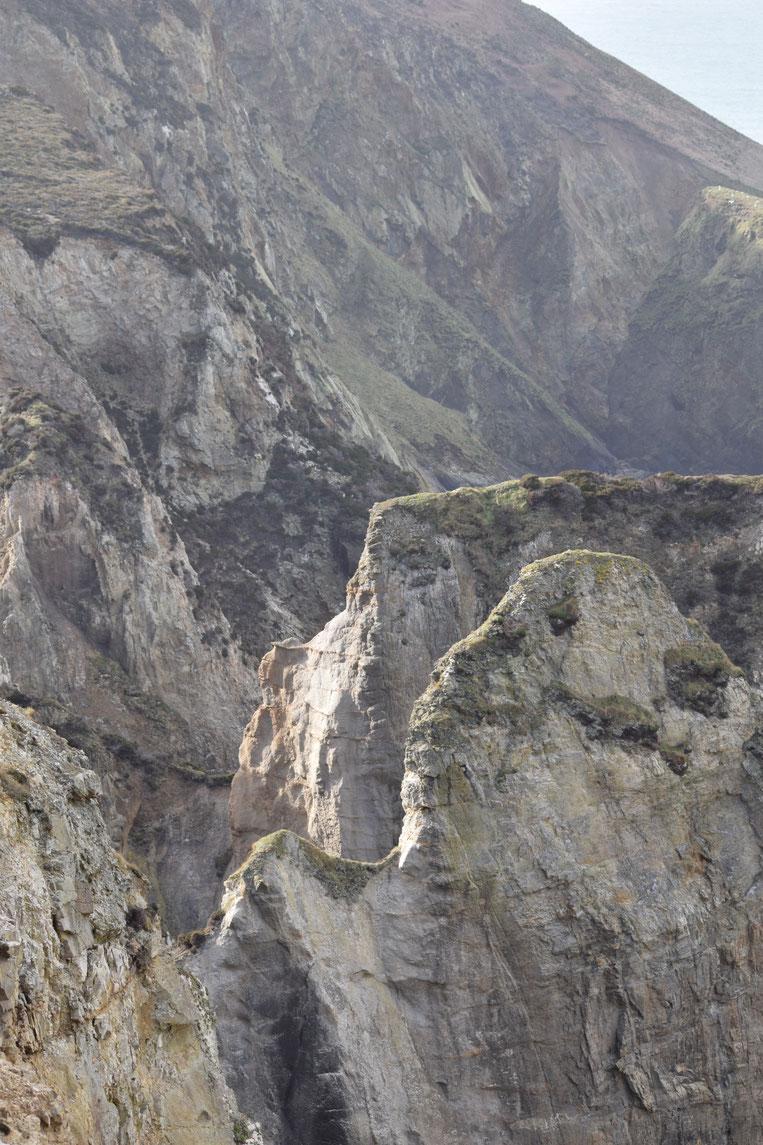 cliffs, Cornwall Coast Path, Pennaporth