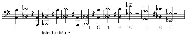 partition musique thème Cthulhu rythme