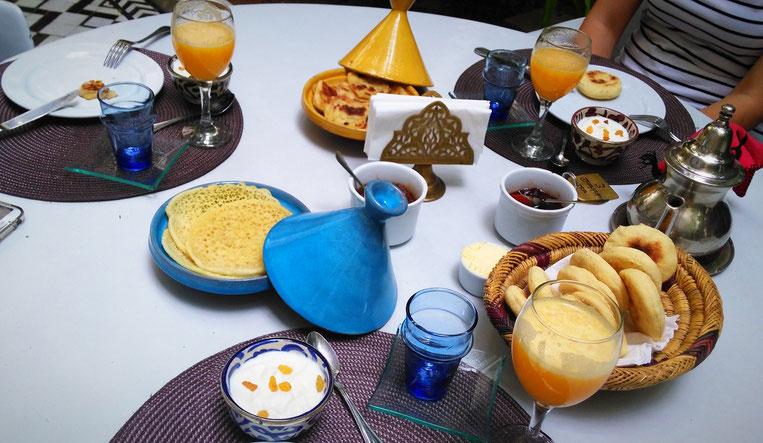 Typisches marokkanisches Frühstück