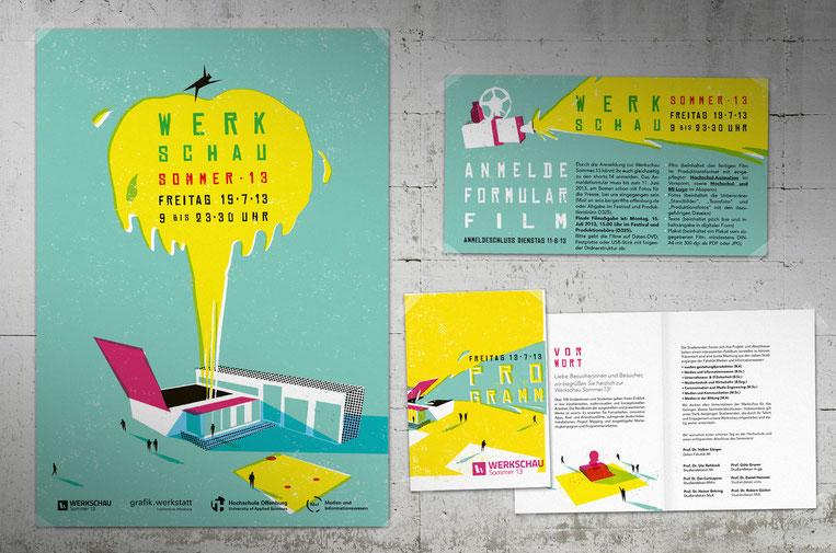 Plakat- und Flyergestaltung für die Werkschau 2013 der HS Offenburg