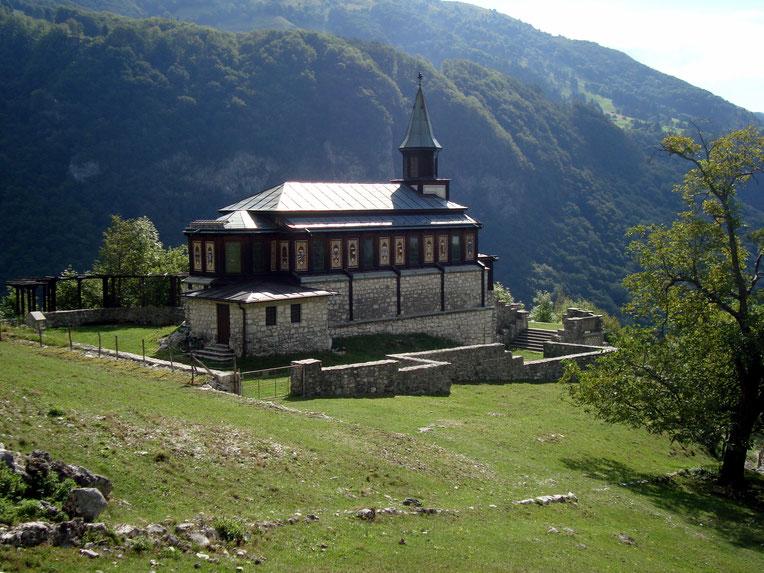 Heiligengeistkirche Javorca an der ehemaligen Isonzofront bei Tolmin an der  Soča Isonzo