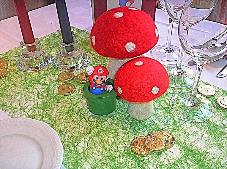 Tischdekorationen, Super Mario, Geld, Fliegenpilz