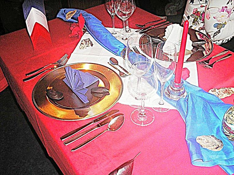 Tischdekorationen - Frankreich, vive la france
