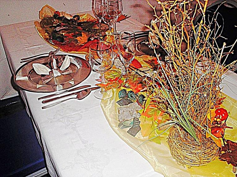Tischdekorationen, Herbst