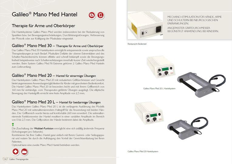 Vibrationshantel Galileo Mano Med 30 - Produktdatenblatt