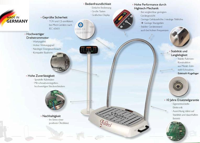 Wartungsfreies Galileo Vibrationstrainingssystem Galileo MED L Vibrationsplatte Produktqualität