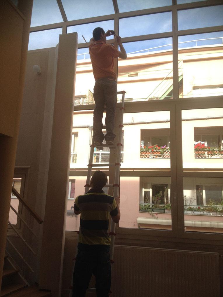 Rideau Vague automatisé pour haute hauteur fenêtre