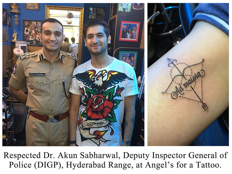 Dr. Akun sabharwal, DIGP, at angel tattooz hyderabad, 28.11.16