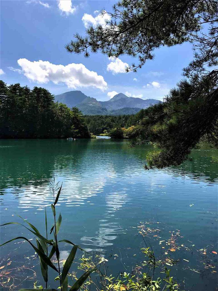 磐梯山が見えるポイントがあります