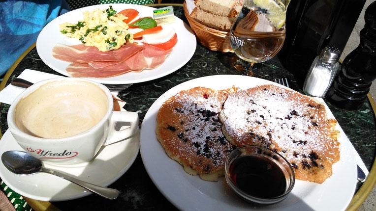 Frühstück, Pancakes Café Soda München