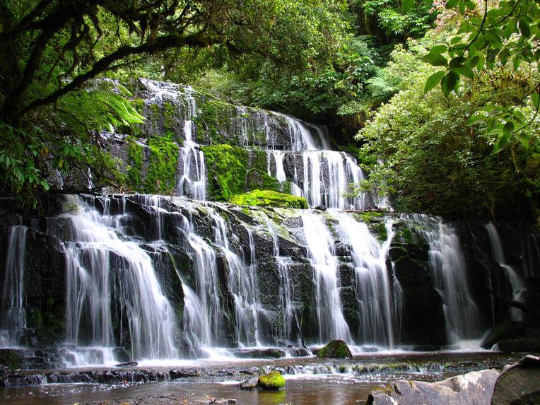 Purakainui Falls, New Zealand. Copyright by Graham Howard (c) 2014