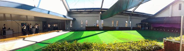 所沢市民武道館弓道場(全景)