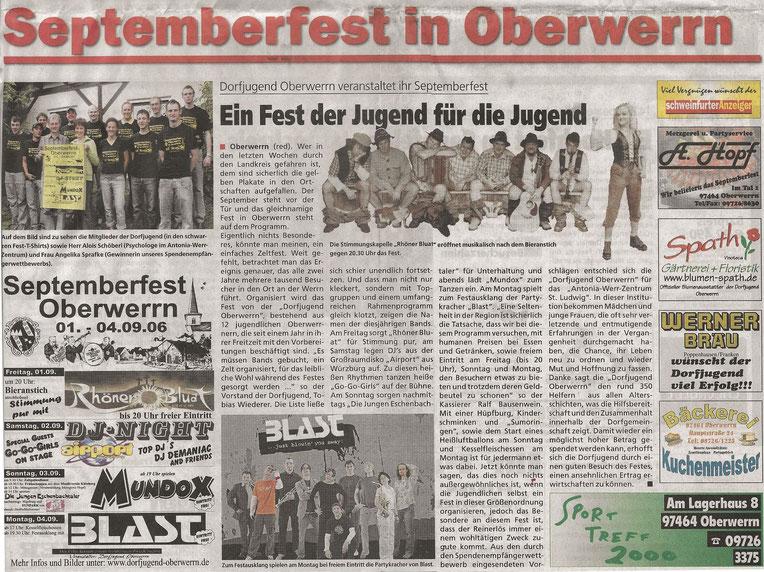 30.08.2006 Schweinfurter Anzeiger