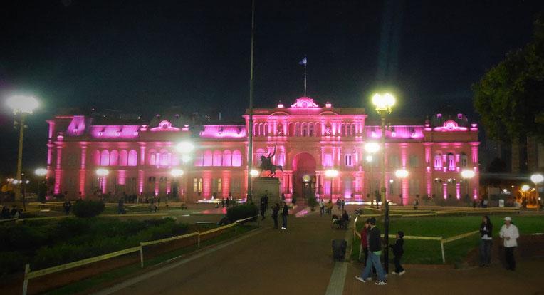 La Casa Rosada bei Nacht