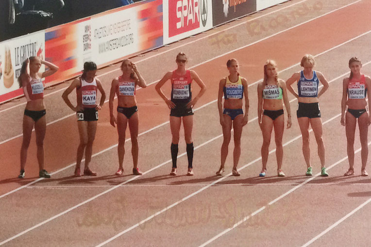 31.08.2017  5 Autographs from Antje Möldner-Schmidt European 3000m Steeple Champion 2014