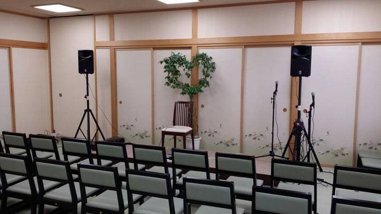 綺麗な畳の大広間の会場☆