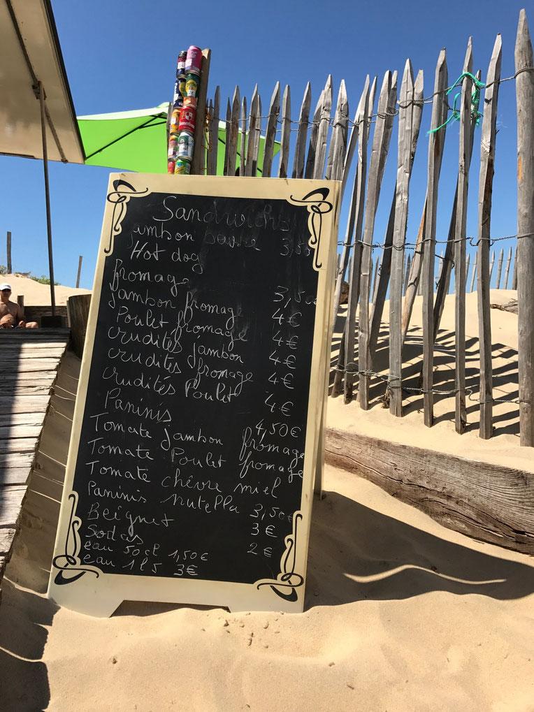 Snacks at Le Porge Ocean