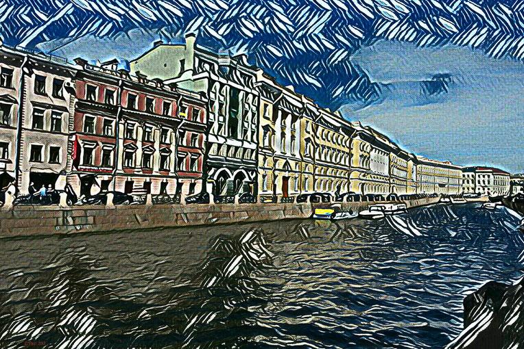 Petersburg im Regen