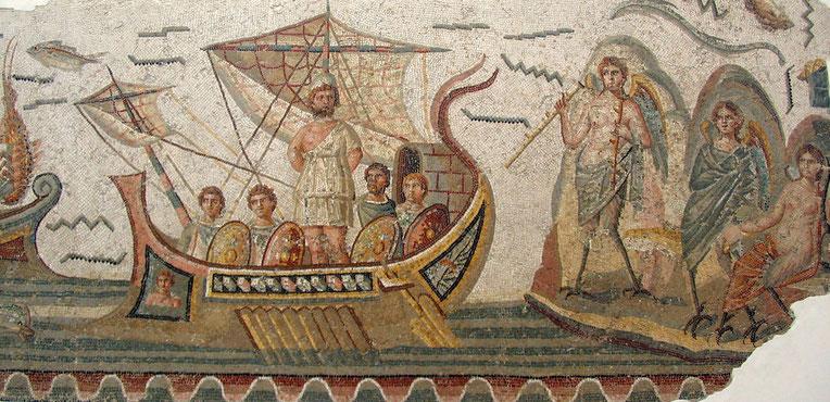 Ulysse résistant aux Sirènes - Musée du Bardo - Tunis