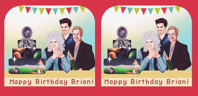 Parallel version - Happy Birthday Brian! ©Chiara Tomaini