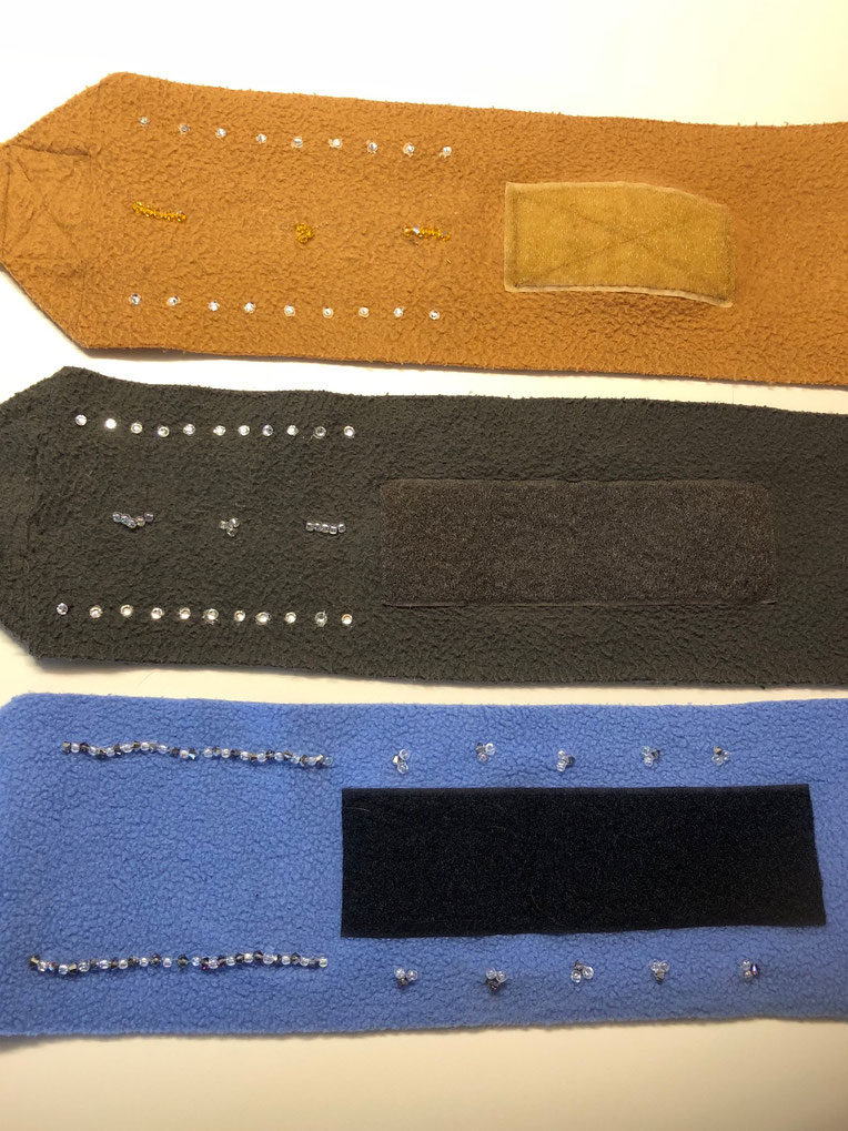 Bandagen veredelt mit Swarovski Steine & Perlen * 1/2 Jahr Garantie = kostenloser Ersatz bei Verlust von Steinchen