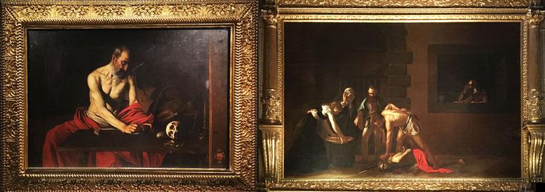 dipinti di Caravaggio San Girolamo Scrivente e La decollazione di San Giovanni Battista nella Cattedrale di La Valletta Malta