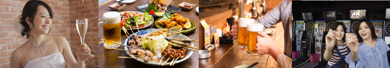 繁華街の飲食、飲食メニュー、遊び風景写真画像