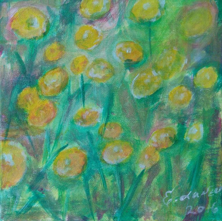 """""""GelbeWiese"""", Acryl auf Leinwand 2016–20x20 cm, Preis: Fragen Sie nach"""