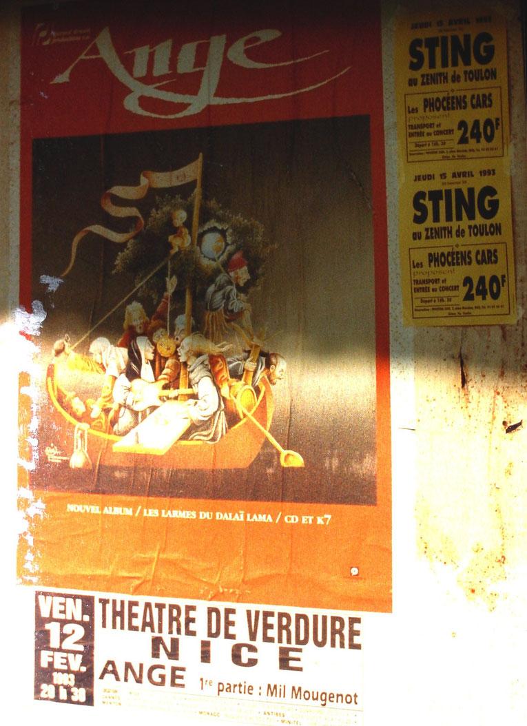 En tournée avec ANGE au Théatre de Verdure, NICE, 1993