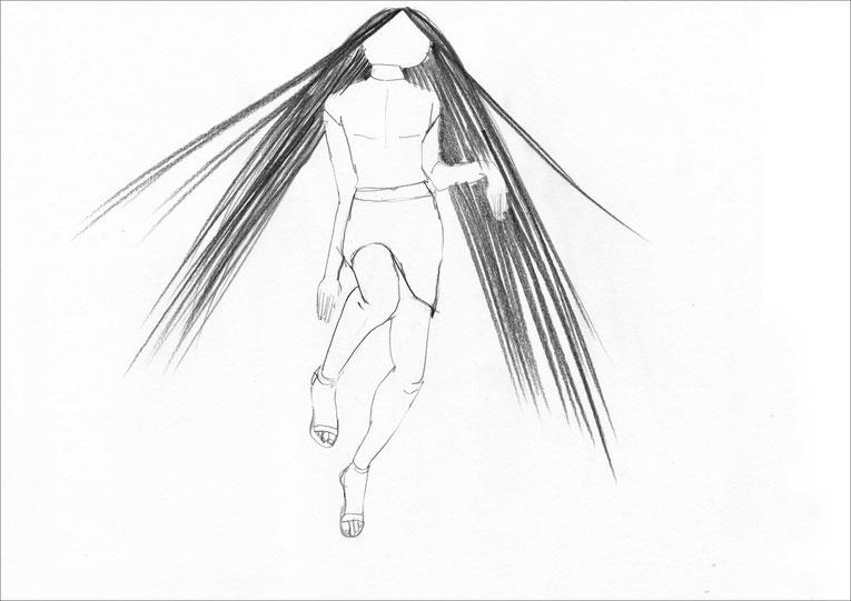 Suspiria, 2003, Bleistift auf Papier, 42 x 29,7 cm