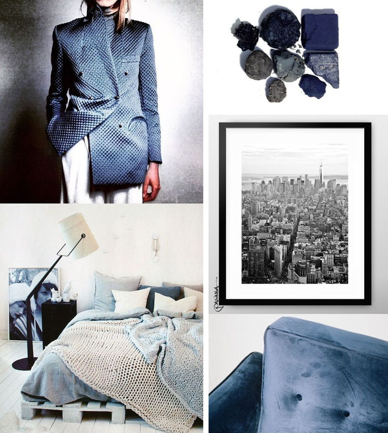 'New York Style' Visual Board with images via Pinterest and PASiNGA