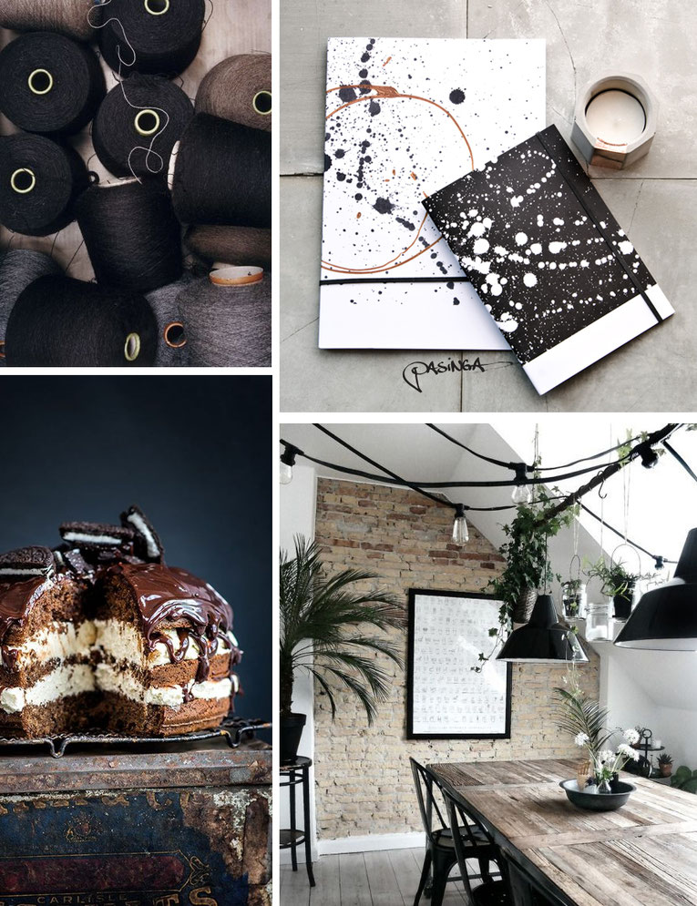 'Warm Wintery Feeling' Visual Board with images via Pinterest and PASiNGA